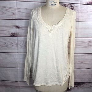 Free people crean long sleeve blouse size M